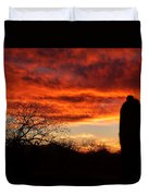 Sunset And Saguaro Duvet Cover