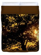 Sunset And Trees - San Salvador I Duvet Cover