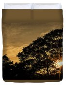 Sunset And Trees - San Salvador Duvet Cover