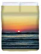 Sunset And Waves Duvet Cover