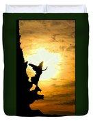 Sunset Angel Duvet Cover