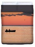 Sunset Anglers Duvet Cover