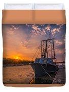 Sunset At Alviso Duvet Cover