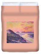 Sunset At Ambleteuse Pas-de-calais Duvet Cover by Theo van Rysselberghe