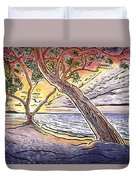 Sunset At Anaehoomalu Bay Duvet Cover