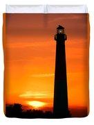 Sunset At Barnegat Lighthouse Duvet Cover