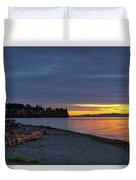 Sunset At Birch Bay State Park Duvet Cover