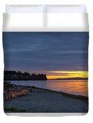 Sunset At Birch Bay State Park Duvet Cover
