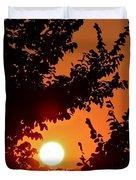 Sunset At Budapest Duvet Cover
