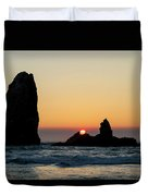 Sunset At Cannon Beach Duvet Cover