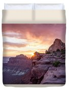 Sunset At Canyonlands Duvet Cover