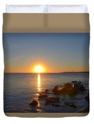 Sunset At Cape May Beach Duvet Cover