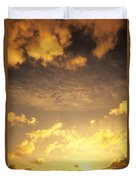 Sunset At Chinamans Hat Duvet Cover