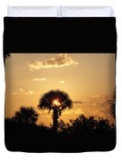 Sunset At Clearwater Beach Duvet Cover
