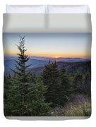 Sunset At Clingmans Dome Duvet Cover