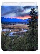 Sunset At Columbia Wetlands Duvet Cover