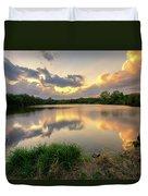 Sunset At Community Lake #8 Duvet Cover