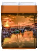 Sunset At Fisherman's Cove Duvet Cover