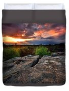 Sunset At Fontainebleau Duvet Cover