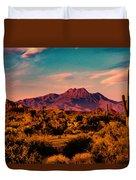 Sunset At Four Peaks Duvet Cover