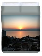 Sunset At Galilee Duvet Cover