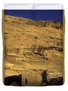 Sunset At Gallo Cliff Shelter Duvet Cover