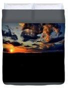 Sunset At Glassy Duvet Cover