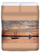 Sunset At Gloucester Duvet Cover