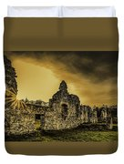Sunset At Grace Dieu Duvet Cover