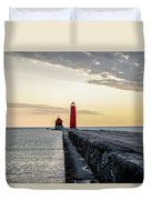 Sunset At Grand Haven Duvet Cover