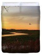 Sunset At Holkham Today  #landscape Duvet Cover