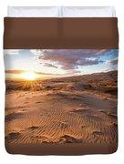 Sunset At Kelso Dunes Duvet Cover