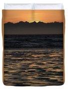 Sunset At Kenai Beach Duvet Cover