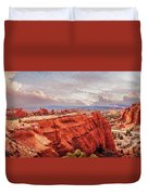 Sunset At Kodachrome Basin State Park Panorama Duvet Cover