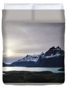 Sunset At Lago Pehoe  In The Cuenos Del Duvet Cover