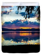 Agency Lake Sunset, Oregon Duvet Cover