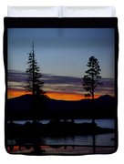 Sunset At Lake Almanor Duvet Cover