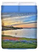 Sunset At Lake Buchanan Duvet Cover