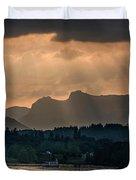 Sunset At Lake District Duvet Cover