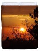 Sunset At Lake Michigan Duvet Cover