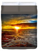 Sunset At Low Tide Duvet Cover