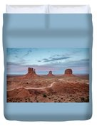 Sunset At Monument Valley No.1 Duvet Cover