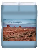 Sunset At Monument Valley No.2 Duvet Cover