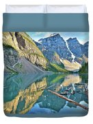 Sunset At Moraine Duvet Cover