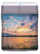 Sunset At Morse Lake Duvet Cover
