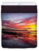 Sunset At Myakka River State Park, Florida Duvet Cover