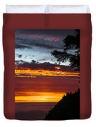 Sunset At Oswald West Duvet Cover