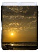 Sunset At Pacasmayo Beach 2 Duvet Cover