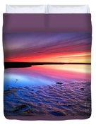 Sunset At Paines Creek Cape Cod Duvet Cover