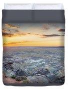 Sunset At Painted Desert Duvet Cover